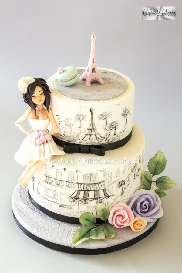 Bachelorette Cake in the French style by MLADMAN