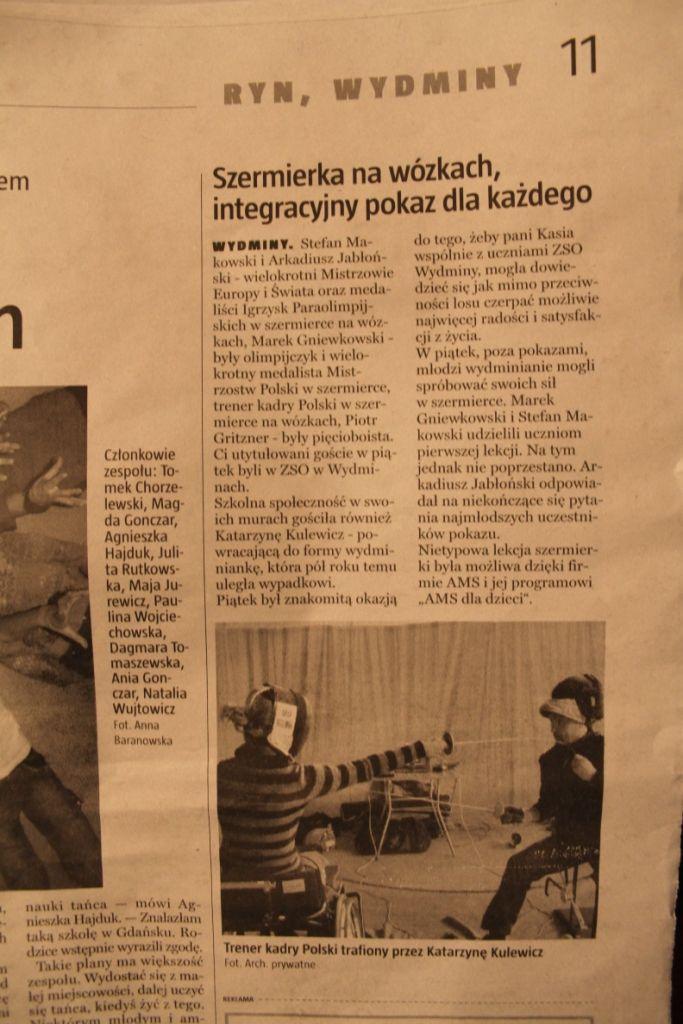 O AMS dla Integracji w Gazecie Giżyckiej (listopad 2011) / About AMS for Integration in Gazeta Giżycka (November 2011)