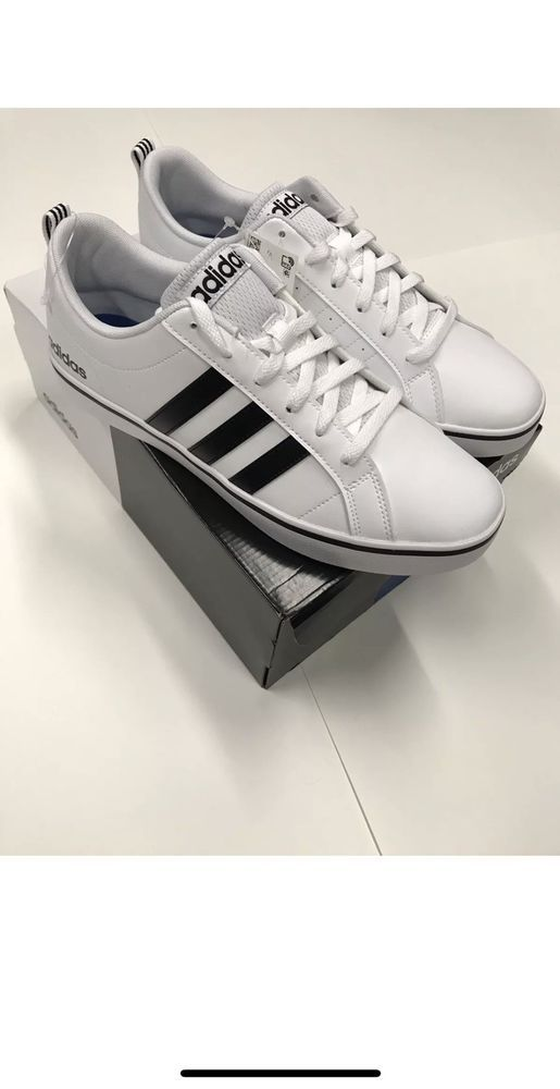 8874dc2dae6029 Adidas NEO Men s Pace VS Fashion Sneakers Shoes White Black Blue AW4594 NEW   fashion