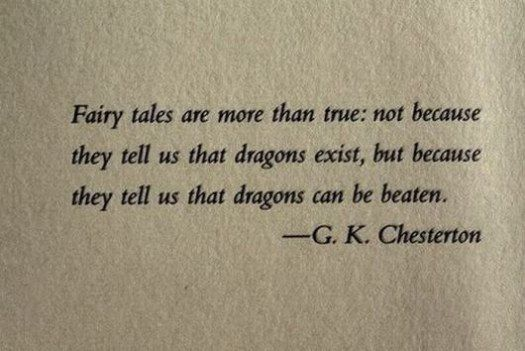 G. K. Chesterton on Fairy Tale Dragons...