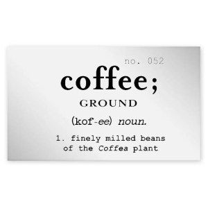 Ground Coffee Clear Jar Label