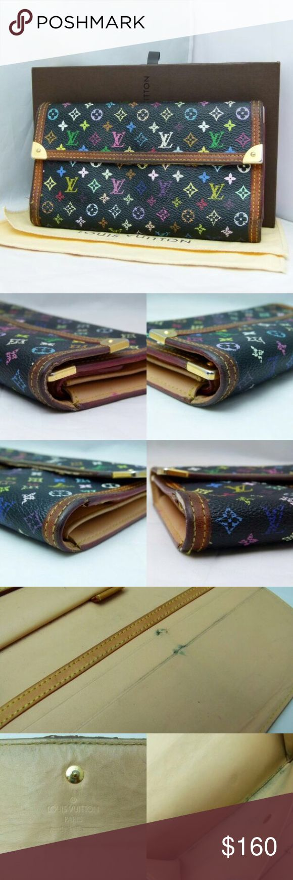 Louise Vuitton Monogram multicolor Wallet Has some stains and fairs as you can see on the pictures, but in good condition :)  Serial number is on 4th picture!! Louis Vuitton Bags Wallets