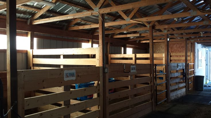 Homemade Box Stalls With Just 2x8 S And 4x4 S Barn And
