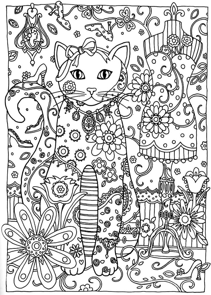 90 best zentangled cats images on pinterest drawings mandalas and cats - Coloriage adulte mandala ...