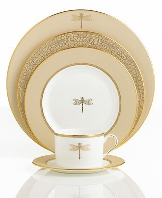 "Kate Spade china - New York ""June Lane Gold"" Dinnerware Collection"