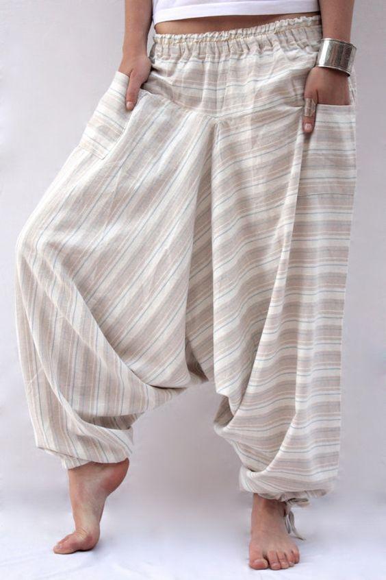 Linen Harem Pants: