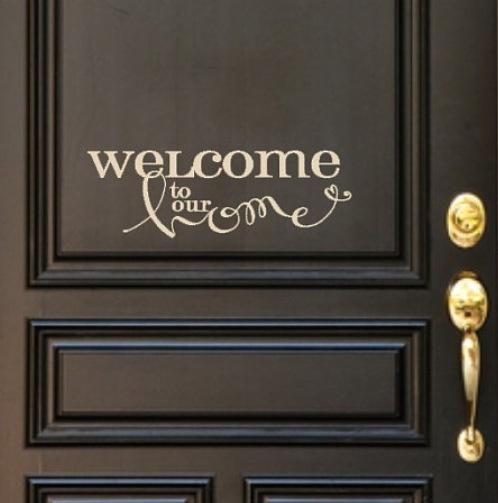 Best Door Decals Images On Pinterest Front Doors Custom - Custom vinyl wall decals for garage