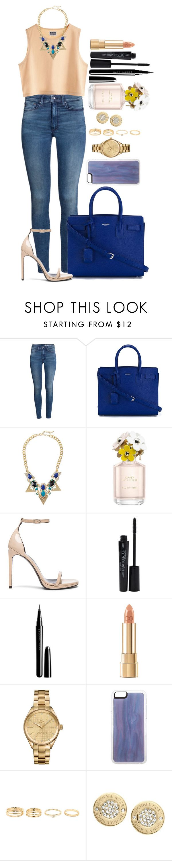"""""""Untitled #1364"""" by fabianarveloc on Polyvore featuring H&M, Yves Saint Laurent, MTWTFSS Weekday, Jules Smith, Marc Jacobs, Smashbox, Dolce&Gabbana, Lacoste, Zero Gravity and Michael Kors"""
