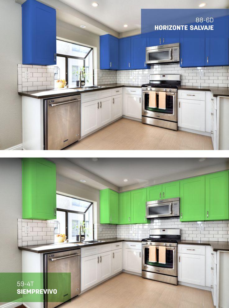 1000 ideas sobre gabinetes de cocina de colores en for Colores para gabinetes de cocina