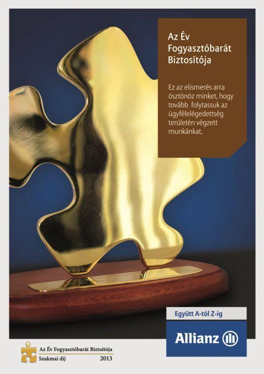 """Megnyertük """"Az Év Fogyasztóbarát Biztosítója"""" díjat! #Allianz #Hungária #Hungary #Magyarország #2014 #díj #award"""