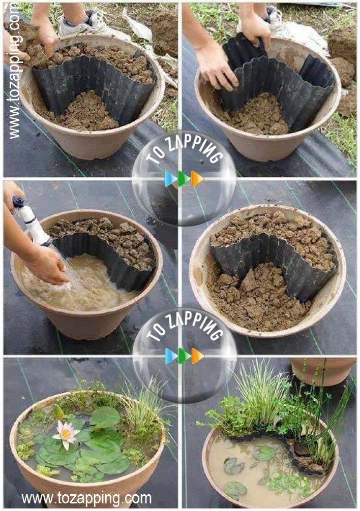 Las 25 mejores ideas sobre macetas al aire libre en pinterest plantas en maceta al aire libre - Como decorar un estanque ...