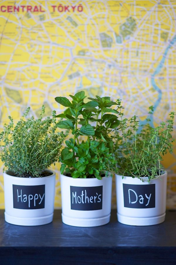 Mother's Day Herb Pots DIY | Naked Bouquet: Herbs Pots, Herb Pots, Mothers Day Gifts, Diy'S, Gifts Ideas, Diy Gifts, Herbs Gardens, Mother'S Day, Pots Diy