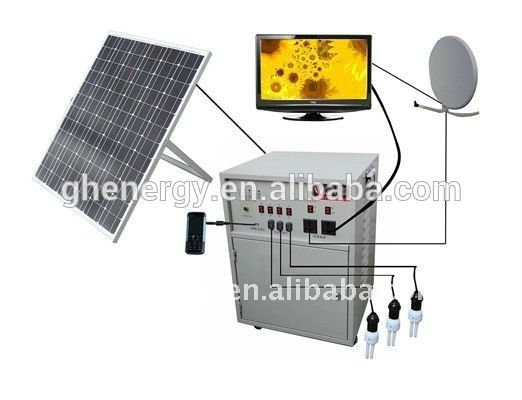 GH SOLAR-mini grid off roof mount solar tracking system 5kw grid tie solar system solar lighting system for indoor