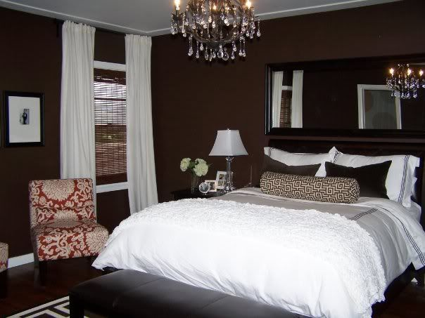 28 best images about brown bedroom on pinterest white Dark brown walls bedroom
