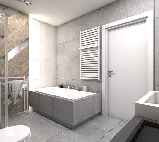 Projekt domu jednorodzinnego 1 - Średnia łazienka bez okna, styl nowoczesny - zdjęcie od BAGUA Pracownia Architektury Wnętrz