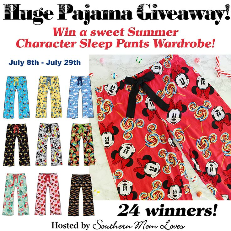 Southern Mom Loves: The Sweetest Character Sleep Pants {+ a HUGE 24 Winner PJ Giveaway! Ends 7/29}