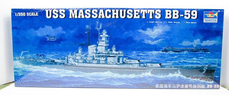 USS Massachusetts BB-59 Battleship Trumpeter 05306 1/350  New Ship Model Kit - Shore Line Hobby