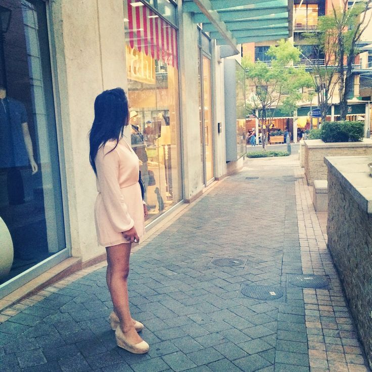 70's style pink playsuit. http://linnyandco.blogspot.com/2014/11/what-i-wore-mbfw.html