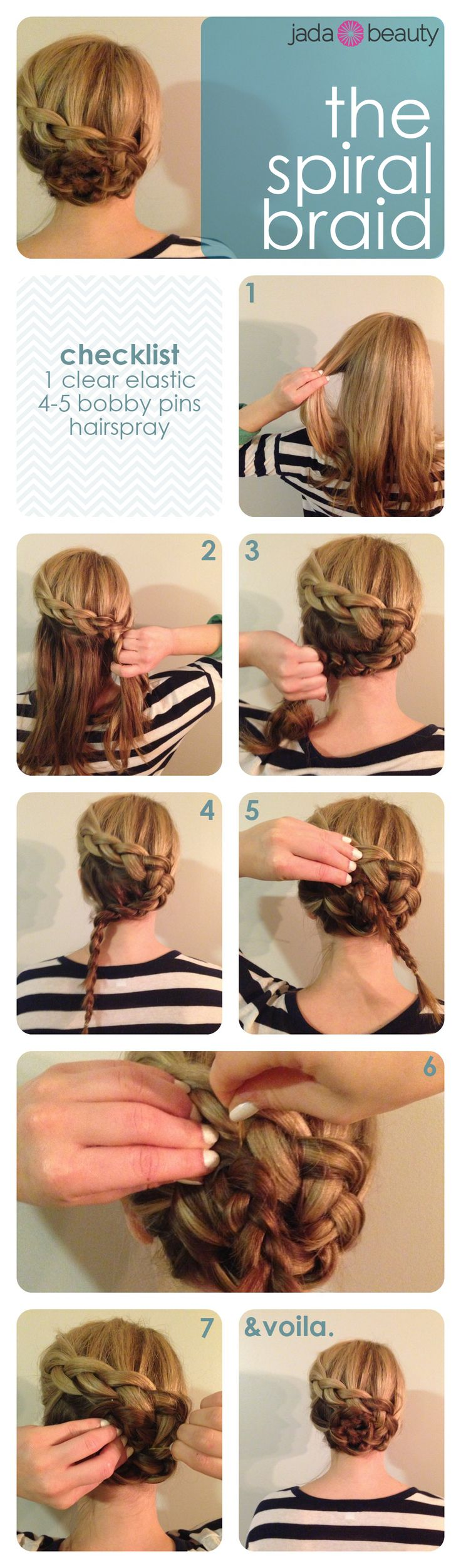 easy #hair #tutorial - the spiral braid! Pin now, try later.