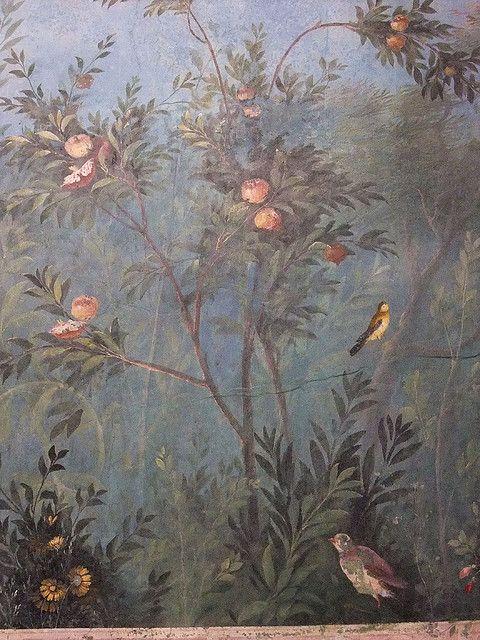 Mural from the triclinium of the Villa of Livia at Prima Porta Roman 1st century CE by mharrsch, via Flickr