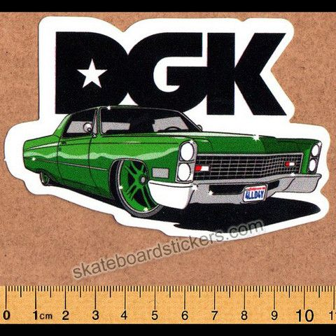 Dgk g ride dirty ghetto kids skateboard sticker skateboardstickers com