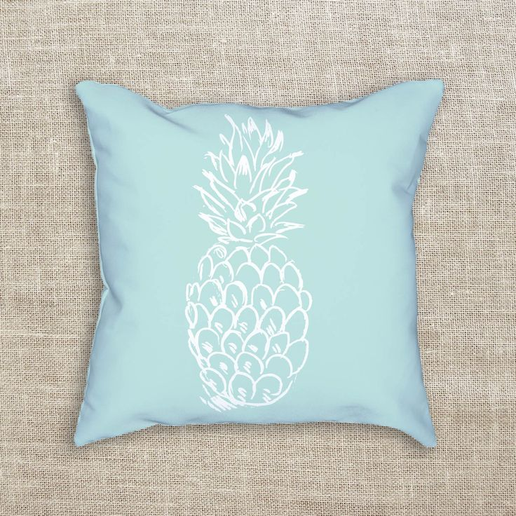 Welcome guests to your home with this mint pineapple decorative throw pillow. It's a great way to bring a nautical, coastal or beach feel to any home or nursery!