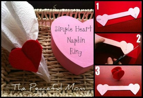 Valentine Craft: Napkin Rings