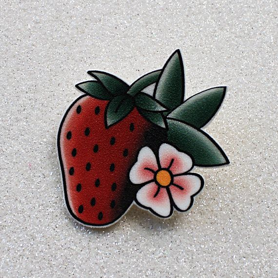 Wild Strawberry brooch or magnet