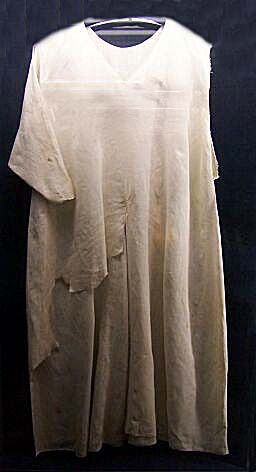 Shirt of St. Luis - from 13th century is shown in Notre Dame Cathedral Treasury, Paris