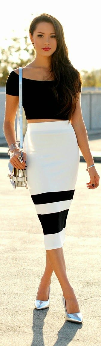 Classic Unique Skirt with Black Top | Chic Street ...