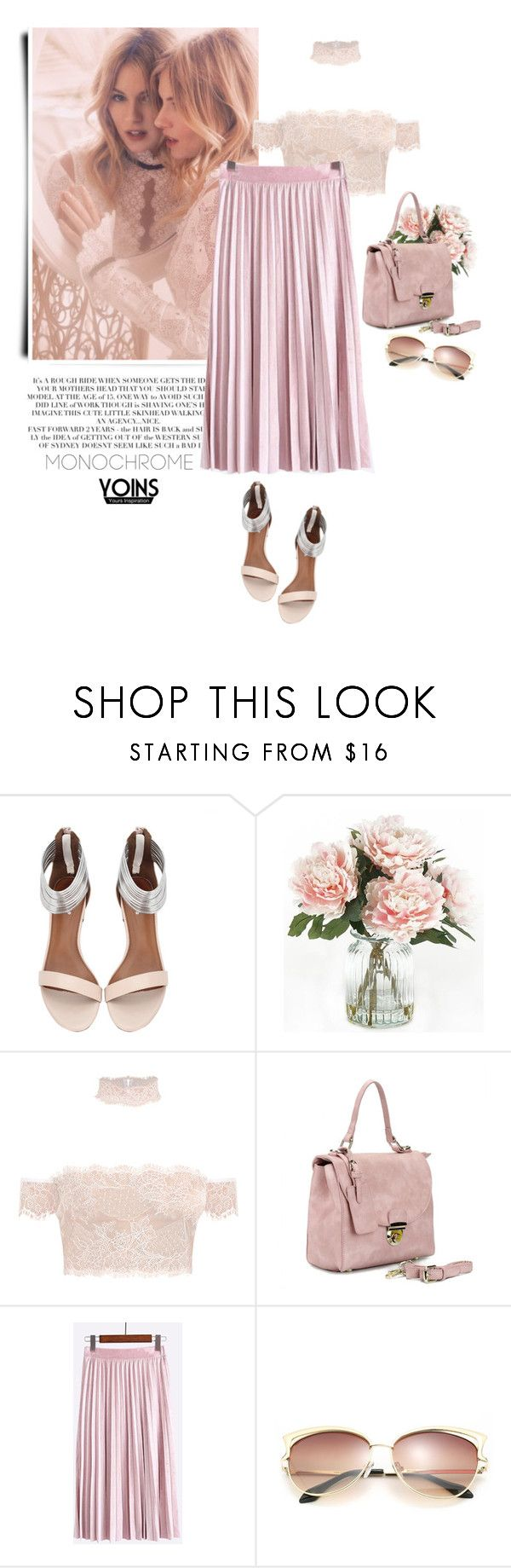 """""""Pink - Yoins"""" by yexyka ❤ liked on Polyvore featuring Rachel, Home Decorators Collection, yoins, yoinscollection and loveyoins"""