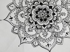 henna flower patterns on paper - Google Search