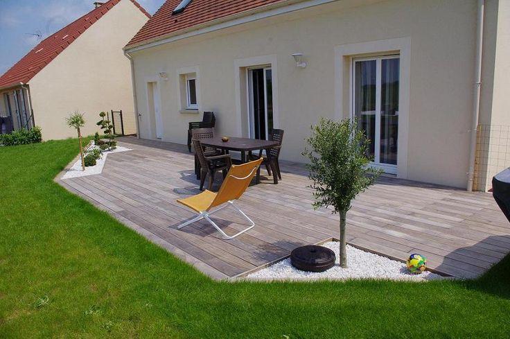 Terrasse bois et gravier