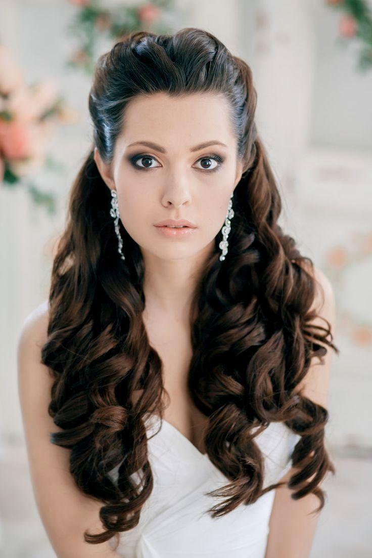 the 25+ best long curly wedding hair ideas on pinterest   long