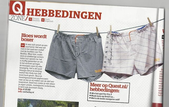 Dutch magazine #Quest labels our boxers as #musthaves 20/12/2012