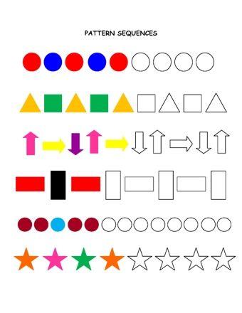 shape patterns teaching handwriting pattern math for kids. Black Bedroom Furniture Sets. Home Design Ideas