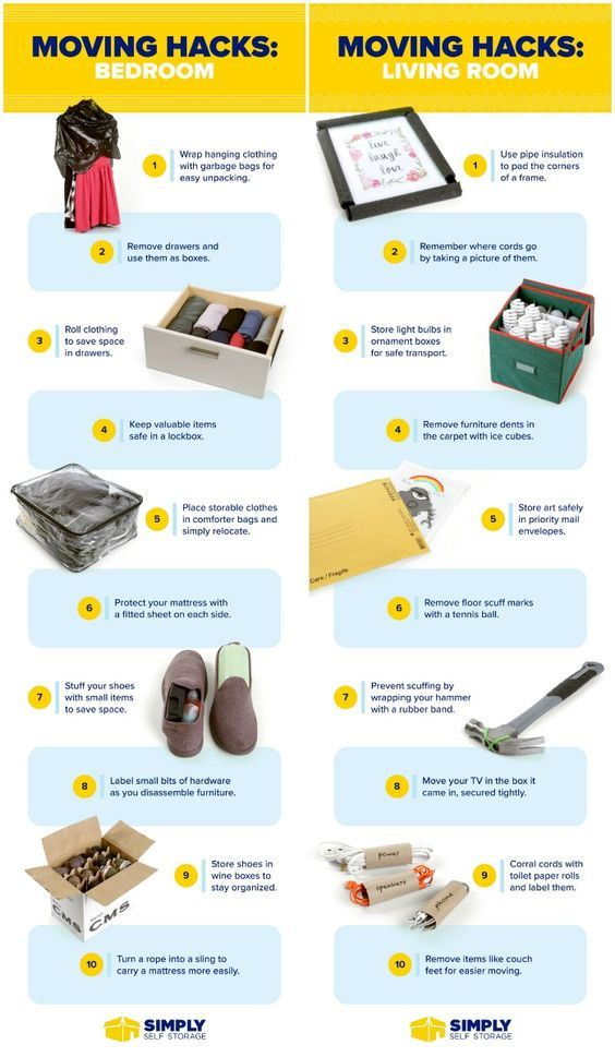25 Genius Moving Hacks That'll Protect Your Stuff and Save You Time