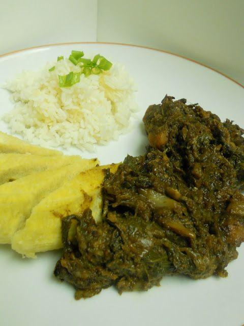 My Haitian Kitchen: Legumes Epinard, Chou, Berejèn, Militon a Vyann Bef avec Coden