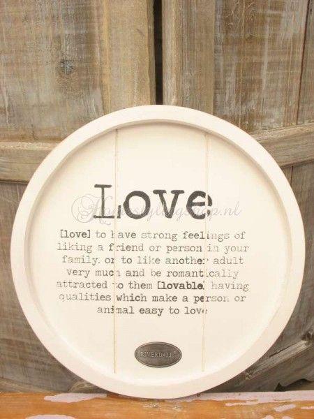 Riverdale dienblad Love wit   Nu bestellen bij - Homestylingshop.nl