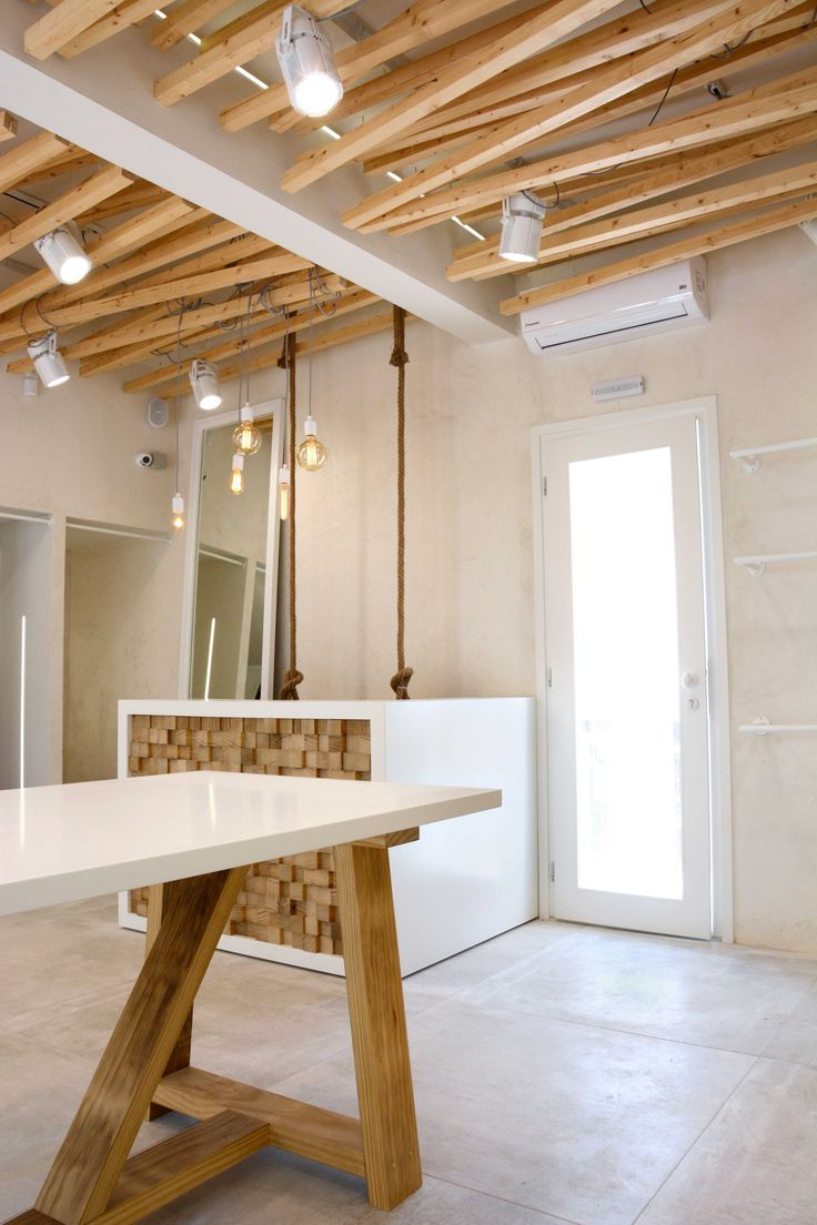 """special wooden construction for """"White shop"""" in Paros island Cyclades, Greece"""