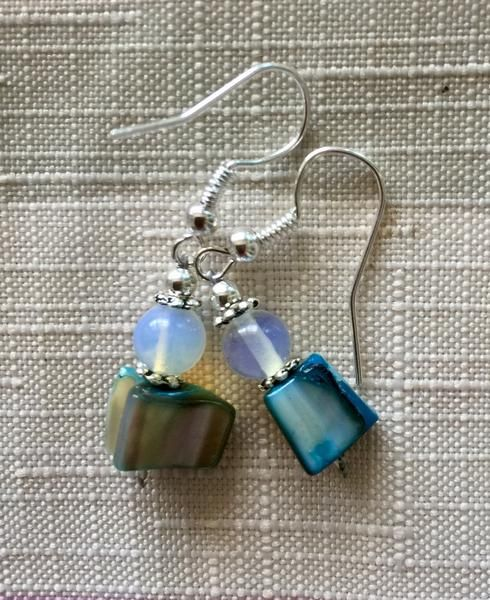 Moonstone and Turquoise Earrings – Soul4Style