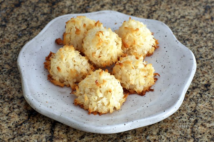 These quick and easy coconut macaroons are made with coconut and sweetened condensed milk. Only 3 ingredients and they're gluten-free!