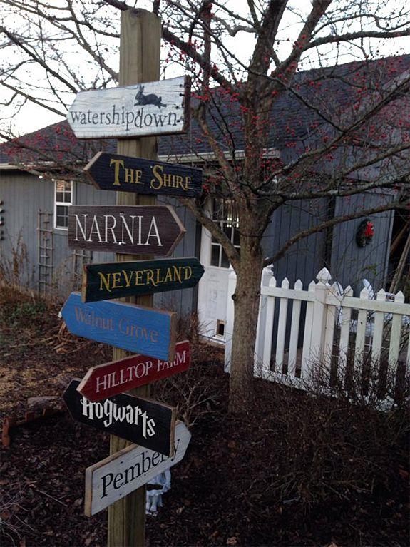 Storybook Garden Sign Post | SignsByAndrea.com
