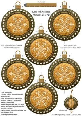 Easy Christmas Ornament 3 on Craftsuprint - Add To Basket!
