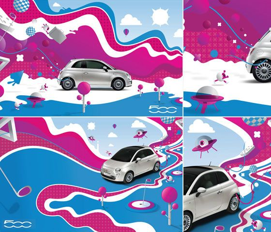 Fiat 500 Artistic picture!