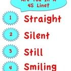 This is a poster to put up to remind your students how to line up. Remember to always have them leave the room smiling :)...
