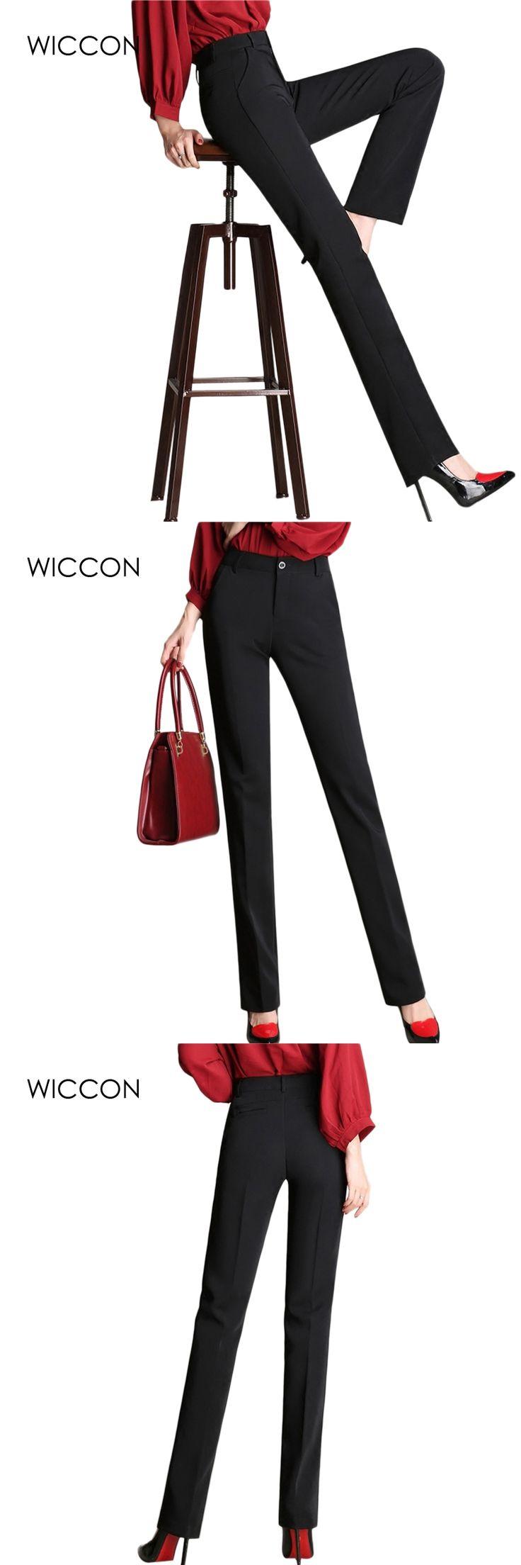 office pants Women Straight Pants Plus Size OL Suit Pants New Fashion Western-Style Trousers Black Casual Work Pants S-4XL