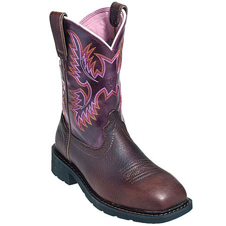 Ariat Boots: Women's 10009494 Steel Toe EH Krista Cowboy Boots #CarharttClothing #DickiesWorkwear #WolverineBoots #TimberlandProBoots #WolverineSteelToeBoots #SteelToeShoes #WorkBoots #CarharttJackets #WranglerJeans #CarhartBibOveralls #CarharttPants