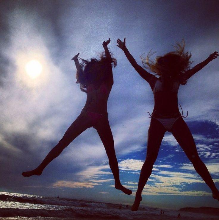Jumping for joy on this super epic day #summer #funinthesun #bikinilife #besties #beachtime #lagunabeach #thearmyof2