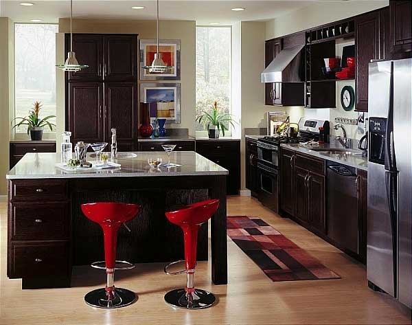 65 best contemporary kitchens images on pinterest for Chocolate kitchen cabinets with stainless steel appliances